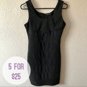 Fitted Black Dress • Size M